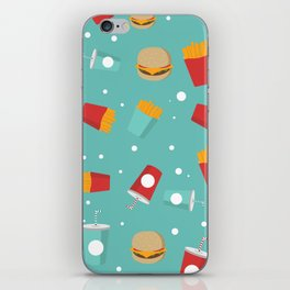 Burgers pattern iPhone Skin