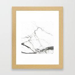 Marble Black & White Framed Art Print