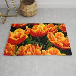 Orange tulips II Rug