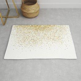 Gold Confetti Metallic Print Rug