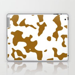 Large Spots - White and Golden Brown Laptop & iPad Skin