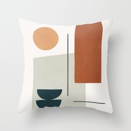 Minimal Shapes No.38 Throw Pillow