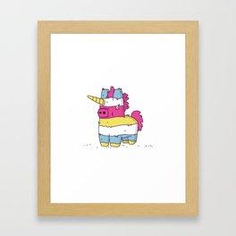 Pinata Unicorn Framed Art Print