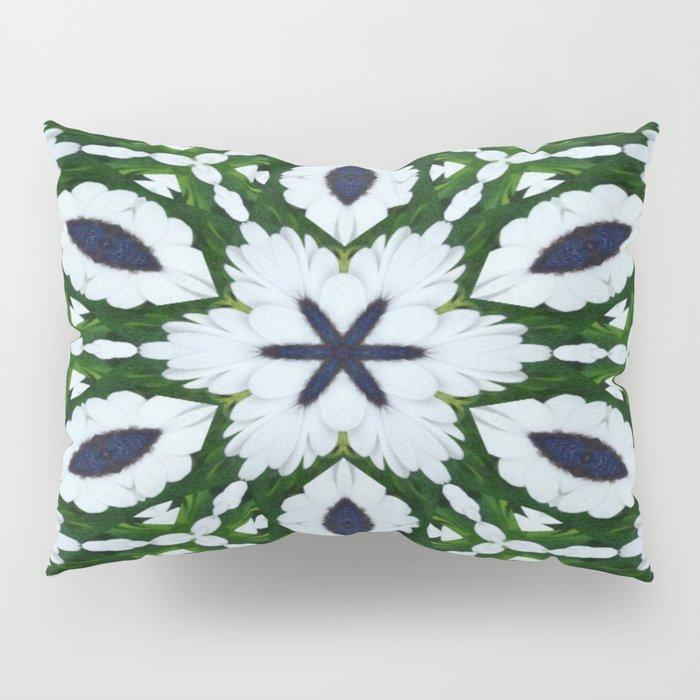 White African Daisy Kaleidoscope Print Pillow Sham