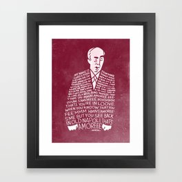 My Name is John Daker Framed Art Print
