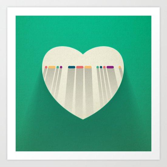 LOVE in Morse Code Art Print