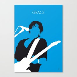 No129 MY Jeff Buckley Minimal Music poster Canvas Print