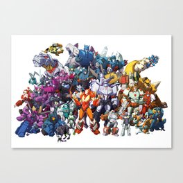 30 Days of Transformers - More Than Meets The Eye cast Canvas Print