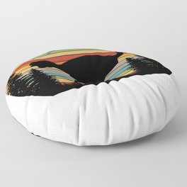 Colorful Ostrich Floor Pillow