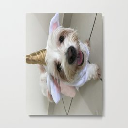 What do you mean I'm not a unicorn? Metal Print