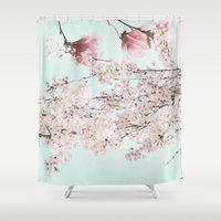fifth harmony Shower Curtains featuring Harmony by Bella Blue Photography