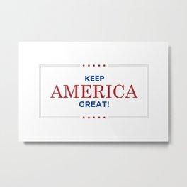 Keep America Great KAG Trump2020 Metal Print