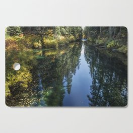 A Watery Avenue of Trees Cutting Board