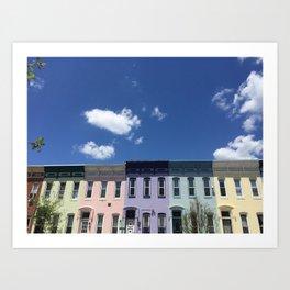 Rainbow Ave Art Print