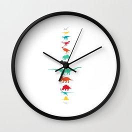 The Dinosaur lineup Wall Clock