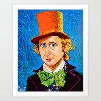 willy wonka Art Prints featuring Wonka by Jordan Soliz