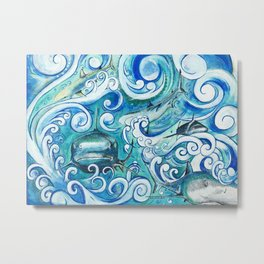 Shark wave Metal Print