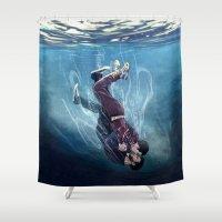 sterek Shower Curtains featuring Underwater by MGNemesi