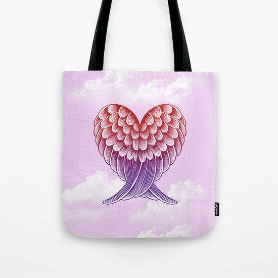Heart Wings [Pink Version] Tote Bag