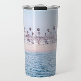 Vintage Newport Beach Print {3 of 4} | Photography Ocean Palm Trees Cool Blue Tropical Summer Sky Travel Mug