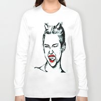 miley cyrus Long Sleeve T-shirts featuring Miley Cyrus  by Clairenisbet