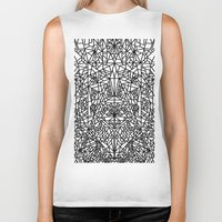 matrix Biker Tanks featuring triangular matrix by westchestrian_art