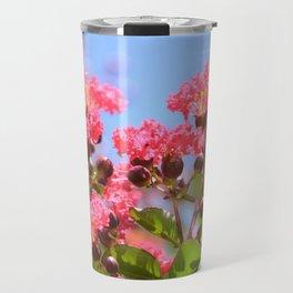 Blooming Pink Crepe Myrtle Flowers Travel Mug