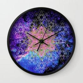 Pink Metatron Galaxy Wall Clock