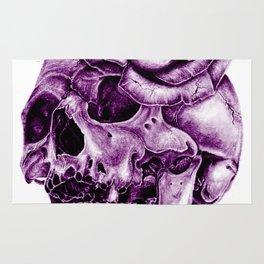 Ultra Violet Skull Rose morph Rug