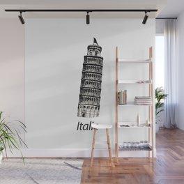 Italic Pisa Tower Wall Mural