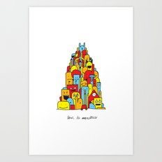 Monster Tower Art Print
