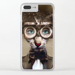 Steampunk Cat Clear iPhone Case