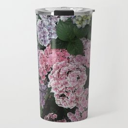 Purple Hydrangea Flowers Travel Mug
