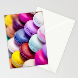 Rainbow Macarons Stationery Cards