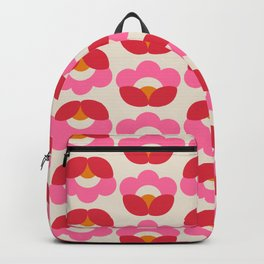 Flowers geometry - retro pattern no2 Backpack