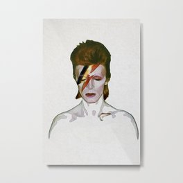 David Bowie Ziggy Stardust Metal Print