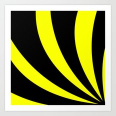 Swoopy     Black and Yellow Art Print