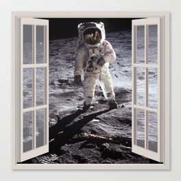 Moon Landing | OPEN WINDOW ART Canvas Print