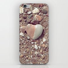 Heart on the Beach iPhone Skin