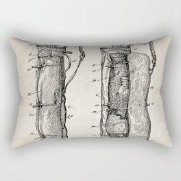 Golf Bag Patent - Caddy Art - Antique Rectangular Pillow