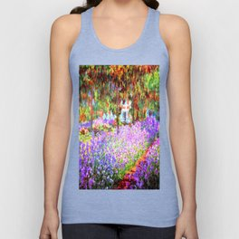 Monets Garden in Giverny Unisex Tank Top