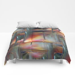 Mirrored Metallic Tile Comforters