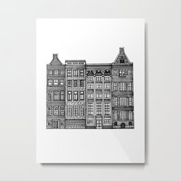 Dutch Canal House Metal Print
