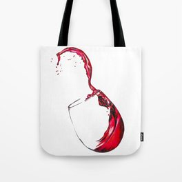Wine Glass Tote Bag