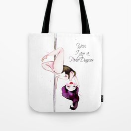 Pole Dancer Pole Dancing Pole Dance Tote Bag