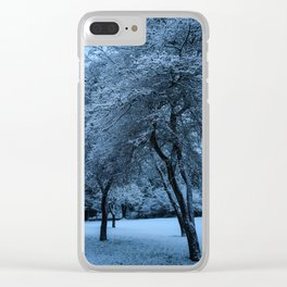 Early Morning Snow, Ravenna Park Clear iPhone Case