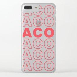 Taco Taco Clear iPhone Case