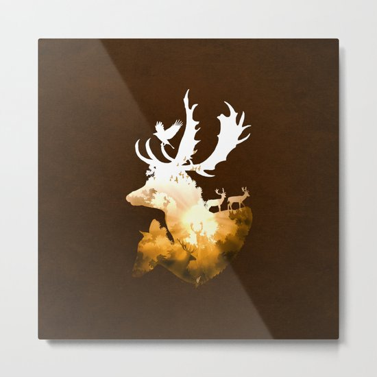 Deer Autumn Metal Print