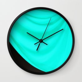 Aqua Drape Wall Clock