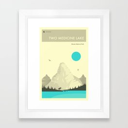 TWO MEDICINE LAKE Framed Art Print